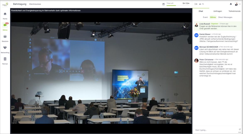 Teilnehmer im Online-Dialog mit den Referenten